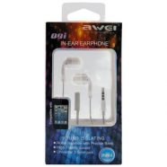 Hands Free Stereo Awei Q9i Apple iPhone 6 3.5mm με Ρυθμιστή Έντασης & Μικρά Ακουστικά Λευκό