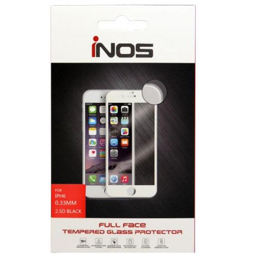Tempered Glass Full Face inos 9H 0.33mm Apple iPhone 6/ iPhone 6S Μαύρο (1 τεμ.)