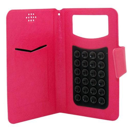 Θήκη Universal Flip Book Extra Large για Κινητά Τηλέφωνα 5.0''-5.7'' Classic Φούξια
