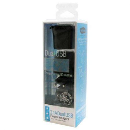 Φορτιστής Ταξιδίου Melkco με Διπλή Έξοδο USB 1000mAh & 2100mAh EU/UK/US/AU
