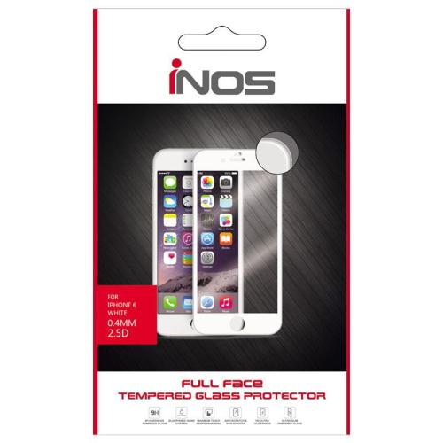 Tempered Glass Full Face inos 9H 0.33mm Apple iPhone 6/ iPhone 6S Λευκό (1 τεμ.)