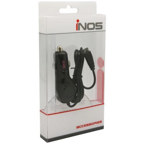 Φορτιστής Αυτοκινήτου inos Micro USB με Extra Έξοδο USB Μαύρο 1000 mAh