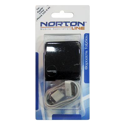 Σετ Φορτιστής Ταξιδίου Shiny με Διπλή Έξοδο USB 1000mAh + Καλώδιο USB Apple iPhone 4/4S 30-pin