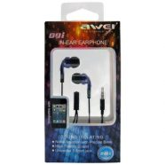 Hands Free Stereo Awei Q9i Apple iPhone 6 3.5mm με Ρυθμιστή Έντασης & Μικρά Ακουστικά Μπλε-Μαύρο