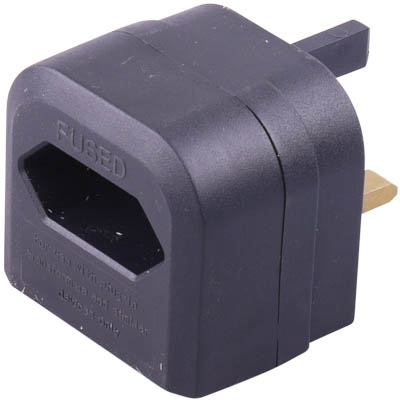 UK-PLUG 14 Euro adapter to UK converter plug black