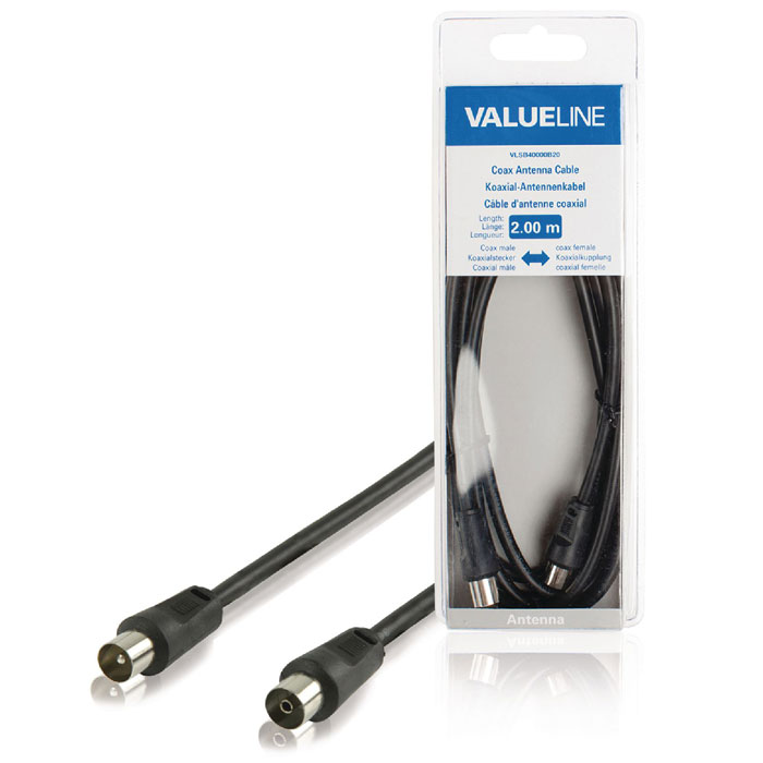 VLSB 40000B 2.00  cable coax male - coax female
