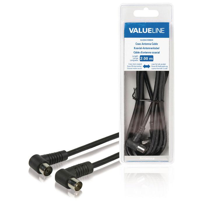 VLSB 40100B 2.00 cable coax male angled - coax female angled