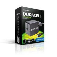 Φορτιστής Ταξιδίου Duracell με Έξοδο USB 2.4Α & Καλώδιο Micro USB 1m Μαύρο