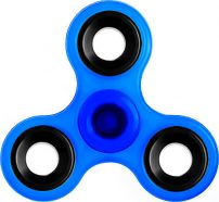 Fidget Spinner ABS Plastic Three Leaves 1.5 Minutes Blue