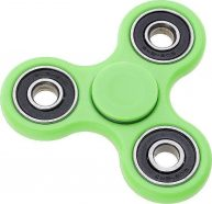 Fidget Spinner ABS Plastic Three Leaves 1.5 Minutes Green