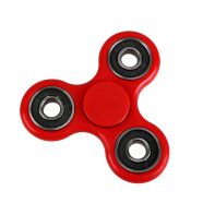Fidget Spinner ABS Plastic Three Leaves 1.5 Minutes Red - Silver